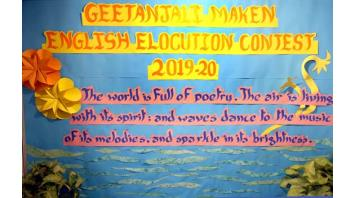 GEETANJALI MAKEN ENGLISH ELOCUTION CONTEST FOR P5