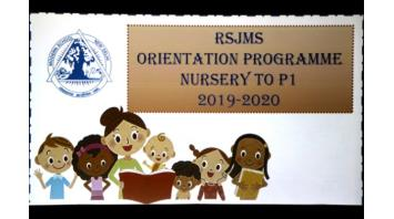 NURSERY AND KG ORIENTATION PROGRAMME 2019-2020
